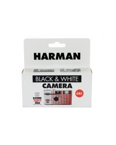 HARMAN single use black and white camera containing ILFORD Photo XP2 Super black and white film