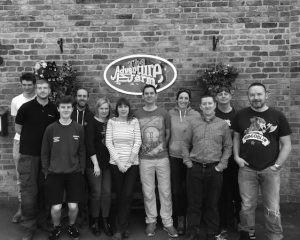 Team photo from charity day at CAFT -childrens adventure farm trust